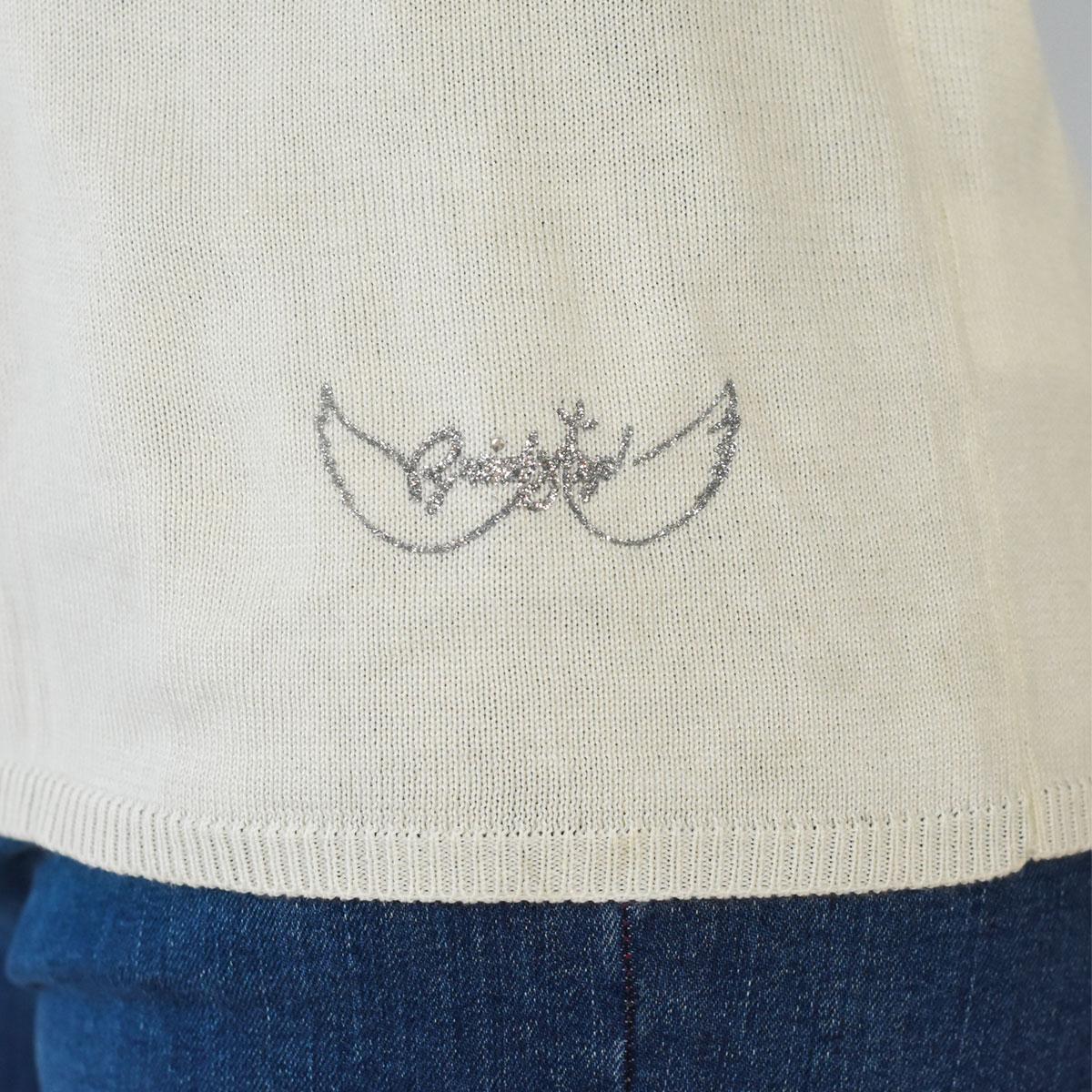 Pull élégant Bruz blanc-zoom-logo