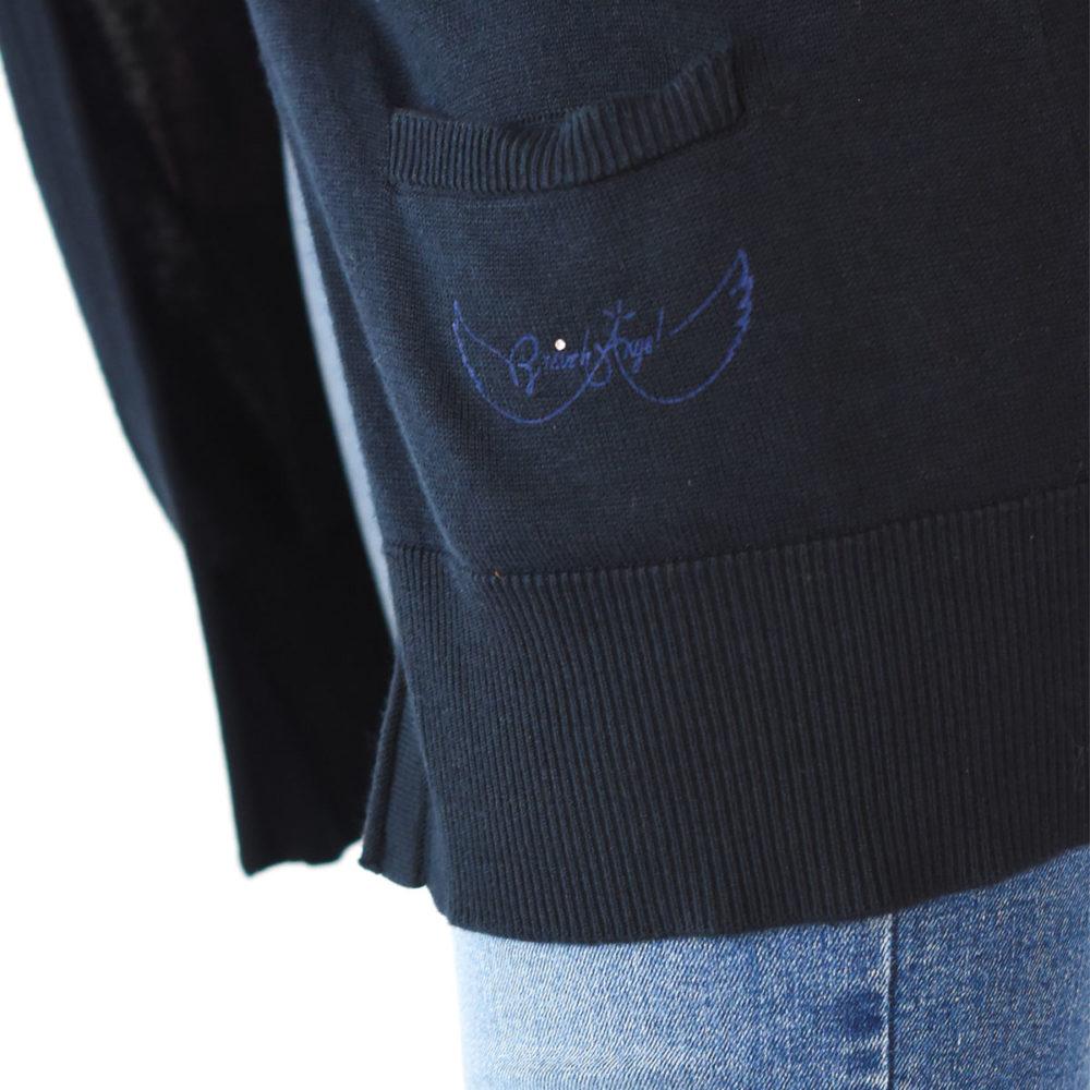 Gilet marin Binic bleu marine zoom sur poche