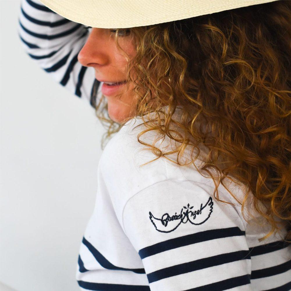 Marinière coton biologique zoom-logo