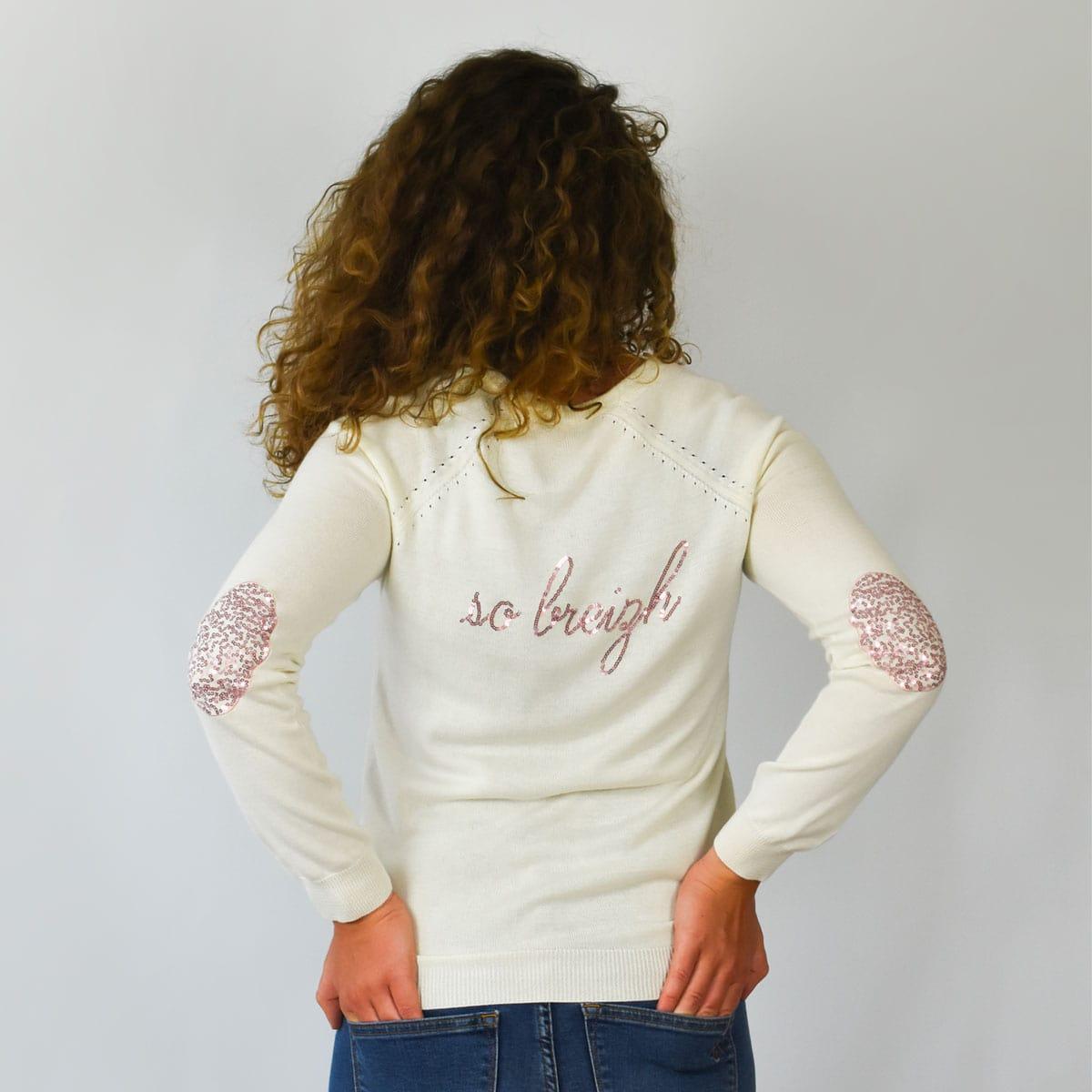 Pull féminin Lesneven inscription So Breizh au dos et coudières dos