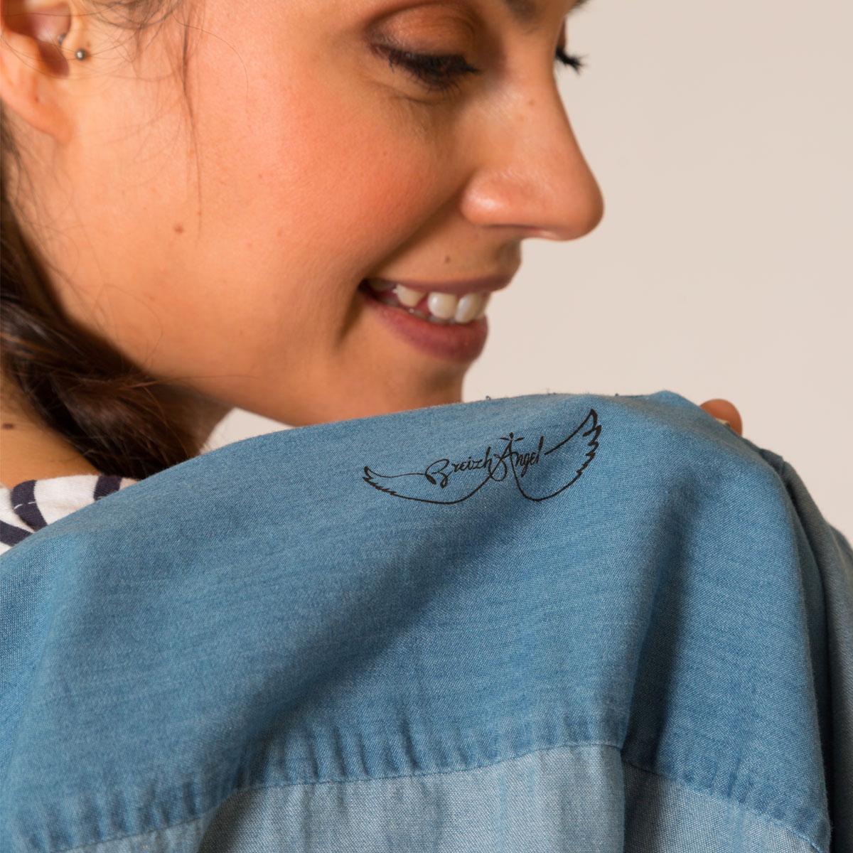 Chemise en jean coton bio Bretagne intérieur logo