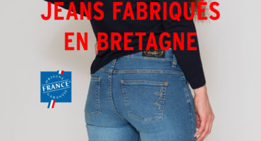 Photo du jean fabriqué par dolmen x Breizh Angel