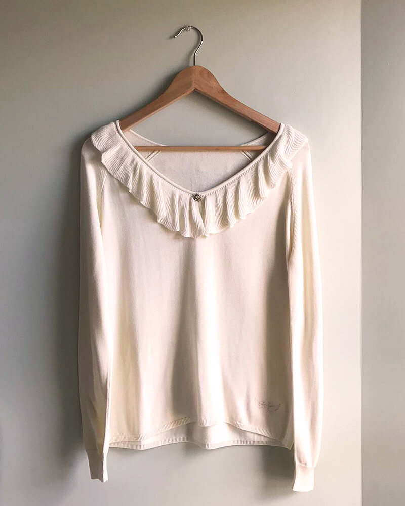 PULL VOLANT BLANC-FACE