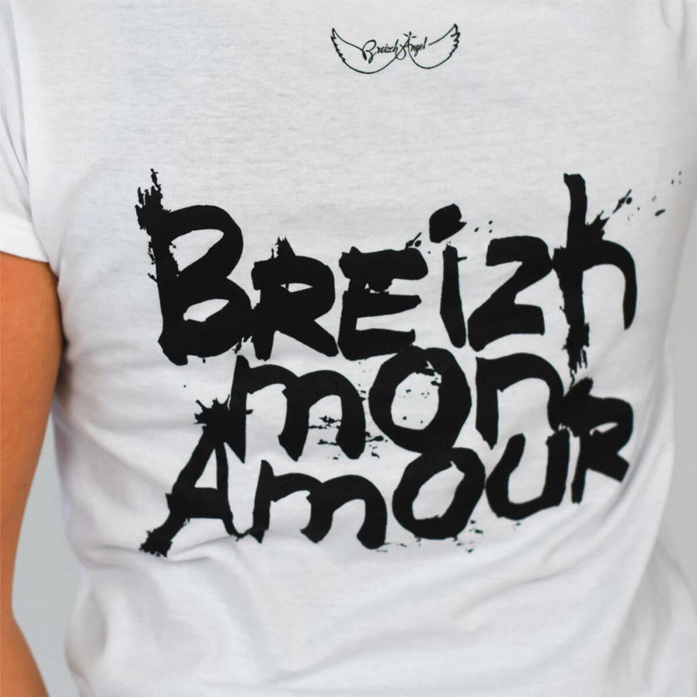 Tee-shirt Bretagne Crozon Breizh mon Amour zoom