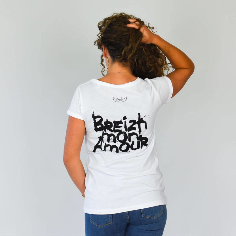 Tee-shirt Bretagne Crozon Breizh mon Amour dos
