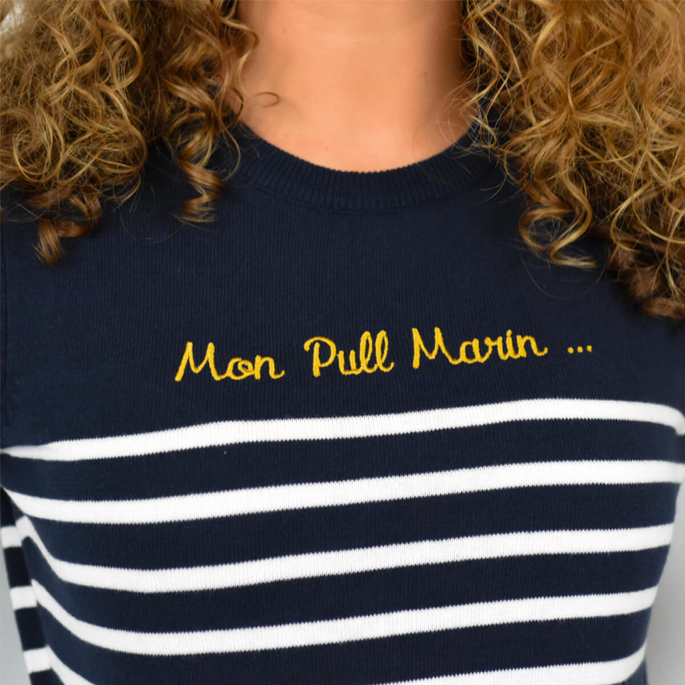 PULL RAYE FEMME ZOOM INSCRIPTION