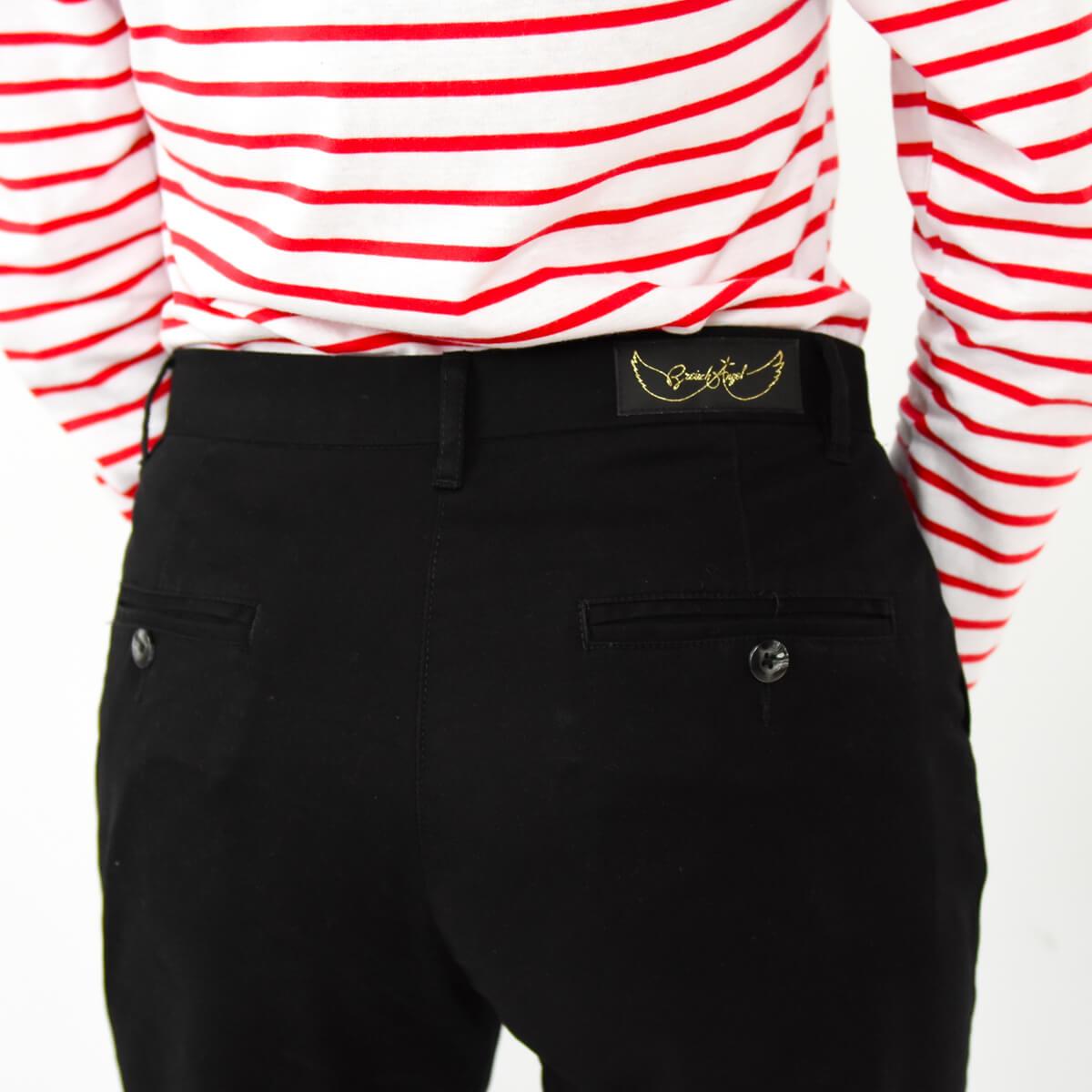 Pantalon chino femme noir zoom dos