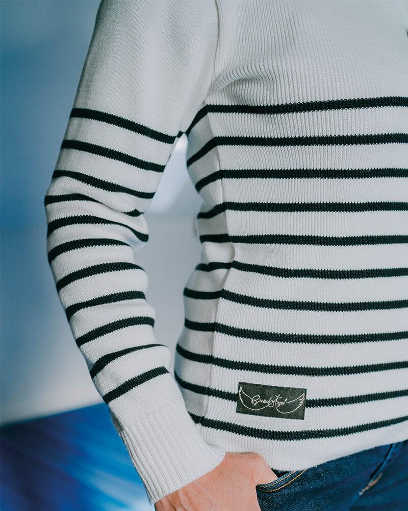 pull fabriqué en France berenice-mixte zoom logo