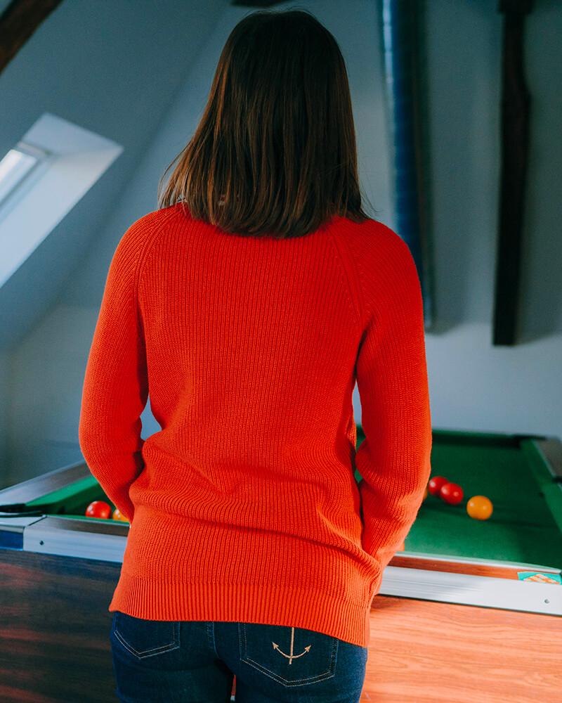 pull col rond brigitte-orange-dos