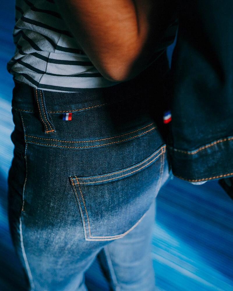 veste en jean fabriquee en France