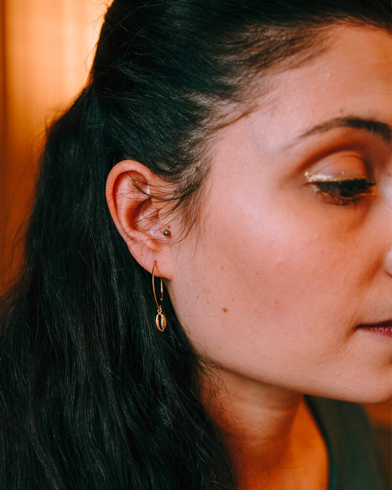 Boucles d'oreilles coquillage plaqué or