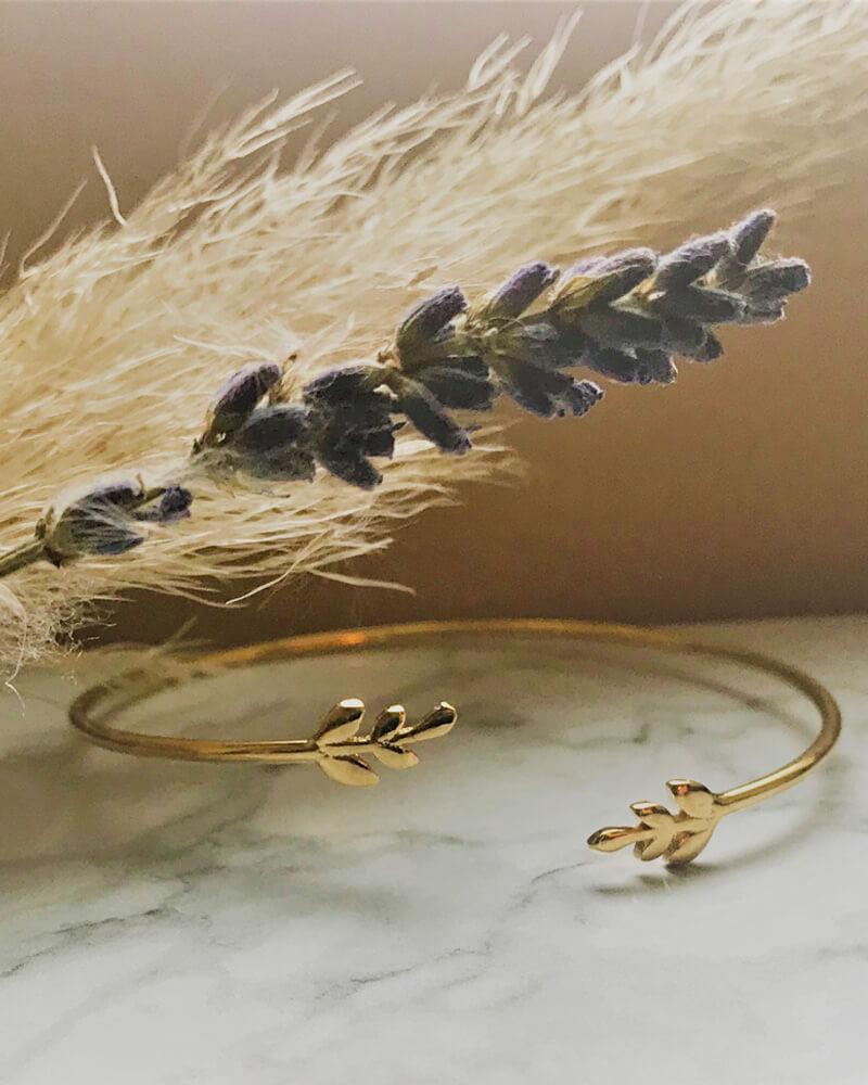 Bracelet doré ajustable Plaqué Or