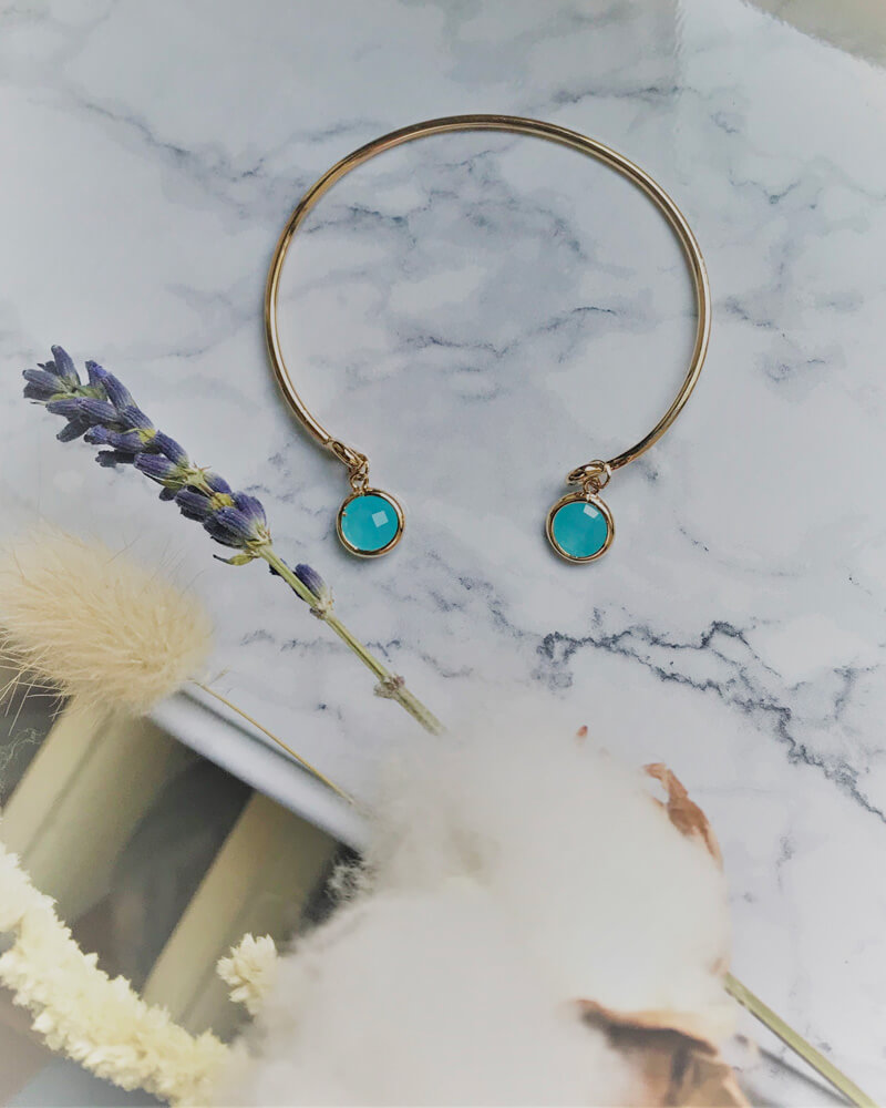 Bracelet plaqué or ajustable