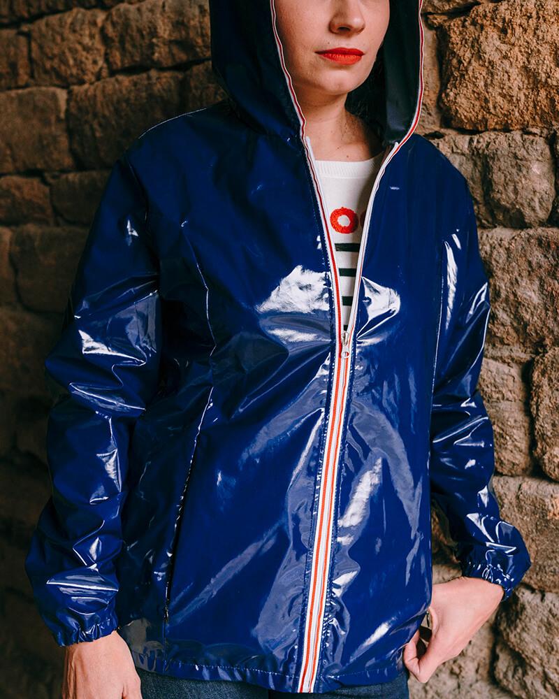 ciré bleu-marine blanca face