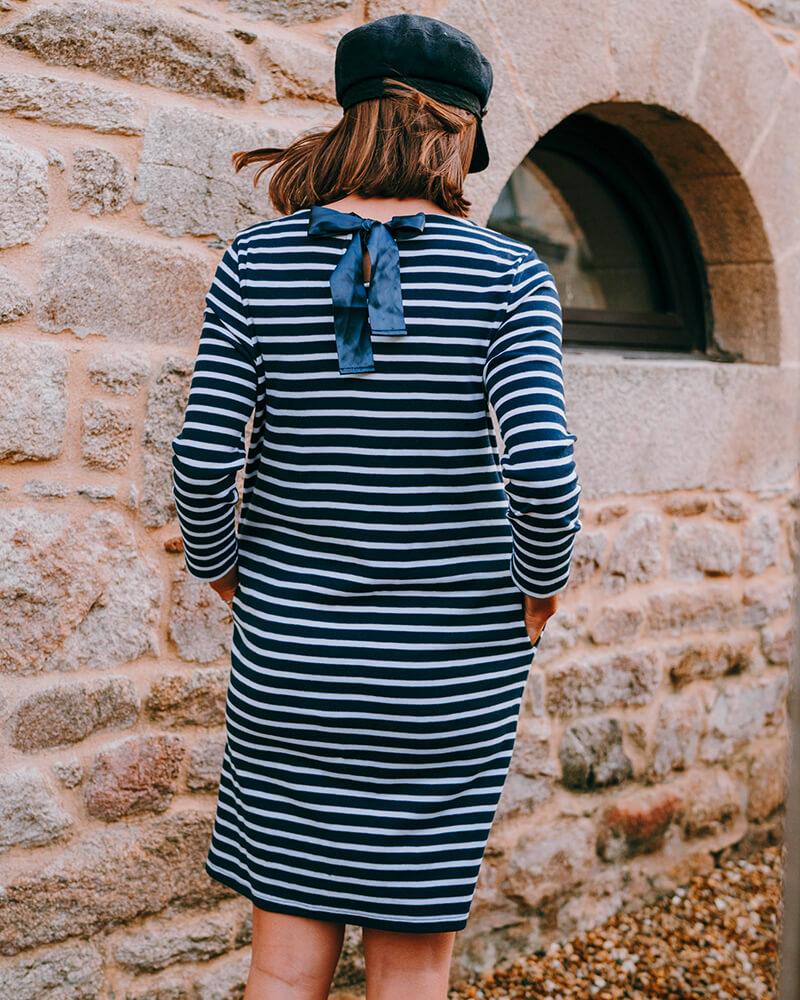 robe marinière benedicte dos