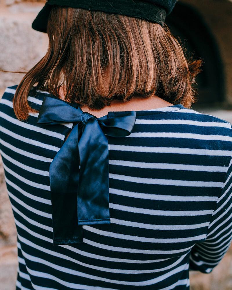 robe marinière benedicte zoom noeud