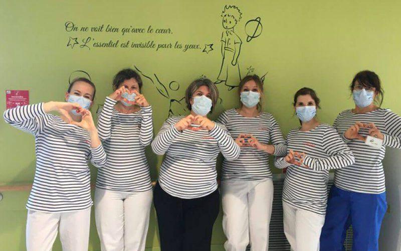 Marinières merci hôpital Guingamp