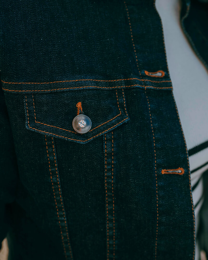 Veste en jean fabriquée en France
