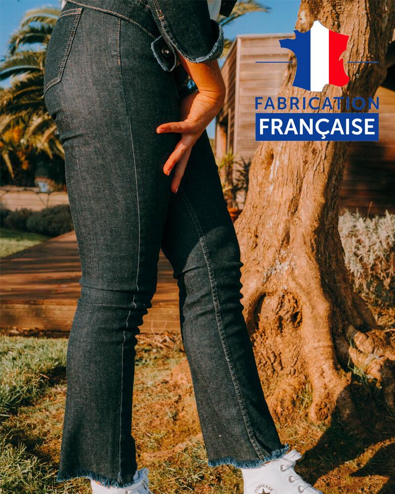 Jean fabriqué en France femme effilé femme