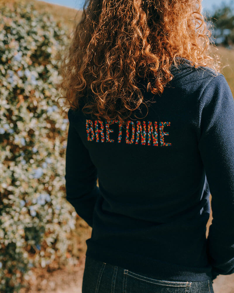 PULL MESSAGE FEMME BRETON DORIS MARINE BRETONNE