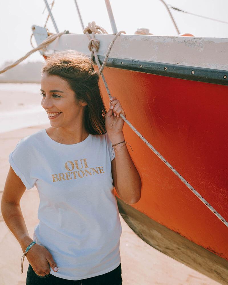 tee-shirt breton femme OUI BRETONNE
