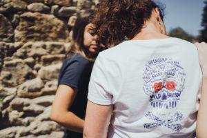 tee shirt bleu marine femme rock fabriqué en france