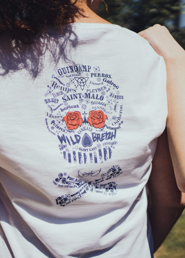 tee shirt femme rock fabriqué en france